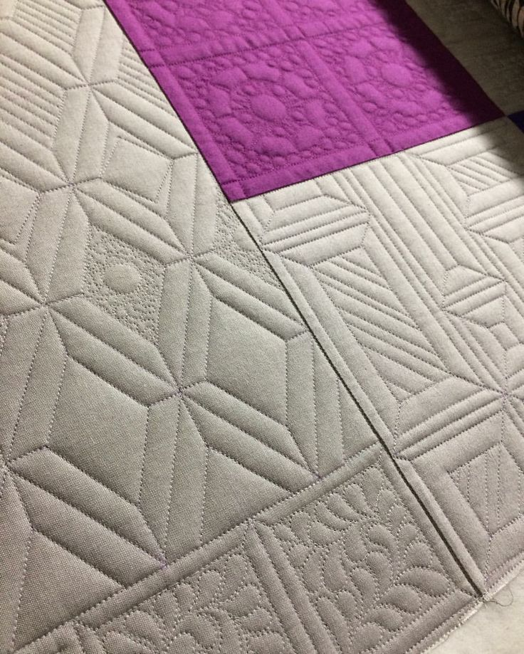 The quilting makes a gorgeous quilt in and of itself