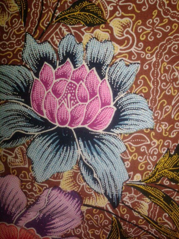 Indonesia Kain Batik Fabric Textile Clothes Wax Dye by harmokoshop, $78.00
