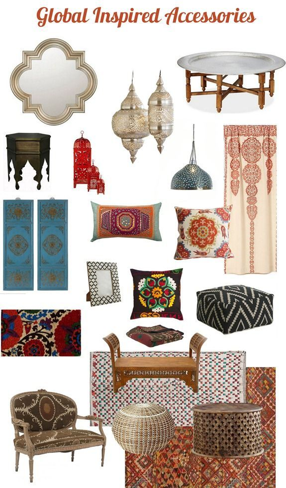 Travel abroad is inspiring for all of the sights, sounds, and flavors we experience, but it also has a dramatic impact on the way we decorate our homes. Design elements from the east have influenced interior design over the decades, and internationally inspired accessories are again surging in popularity.