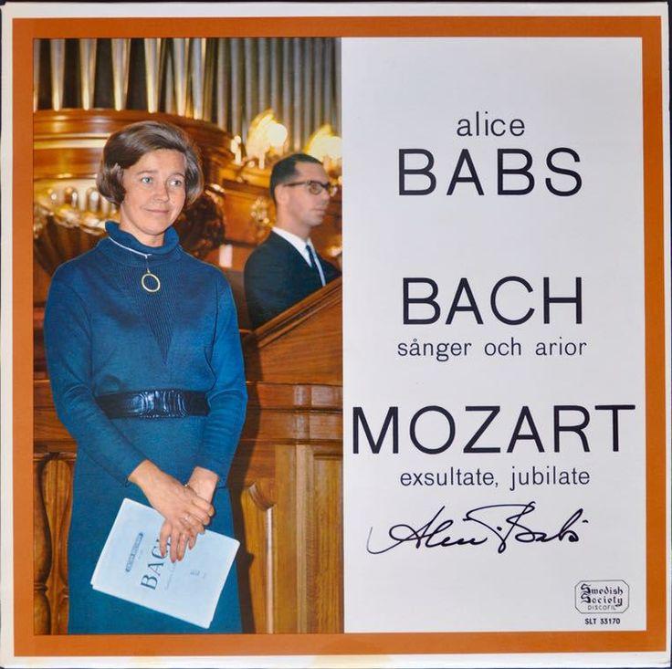 Alice Babs – Sjunger Bach Sånger Och Mozart (Signed)