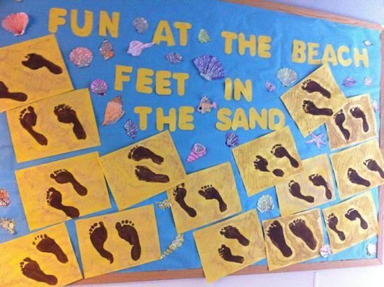 Elementary Summer Bulletin Board Idea