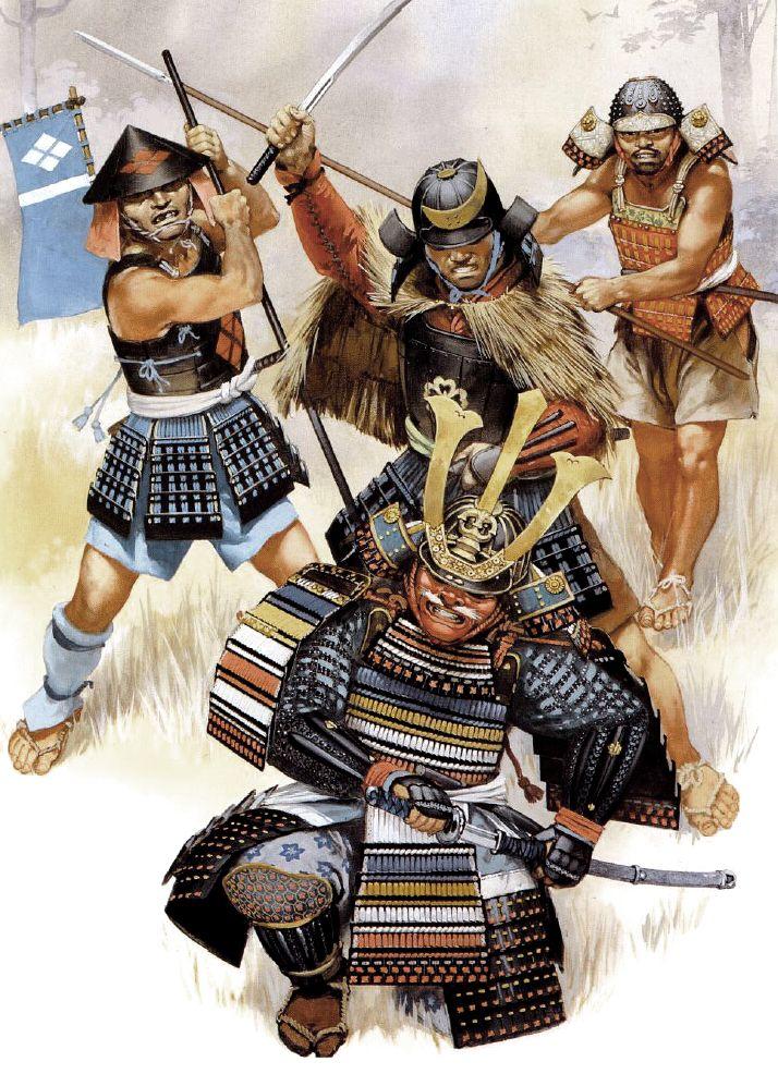 Death of Uesugi Tomosada at the battle of Kawagoe 1546. Nice LARGE image