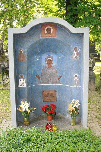 grób ks. Jerzego Klingera - Jerzy Nowosielski