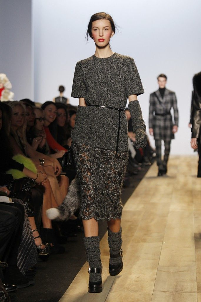 Love all of this! Even the chunky socks with the Mary Janes! The detailing on the skirt is gorgeous. -Michael Kors RTW Fall 2012