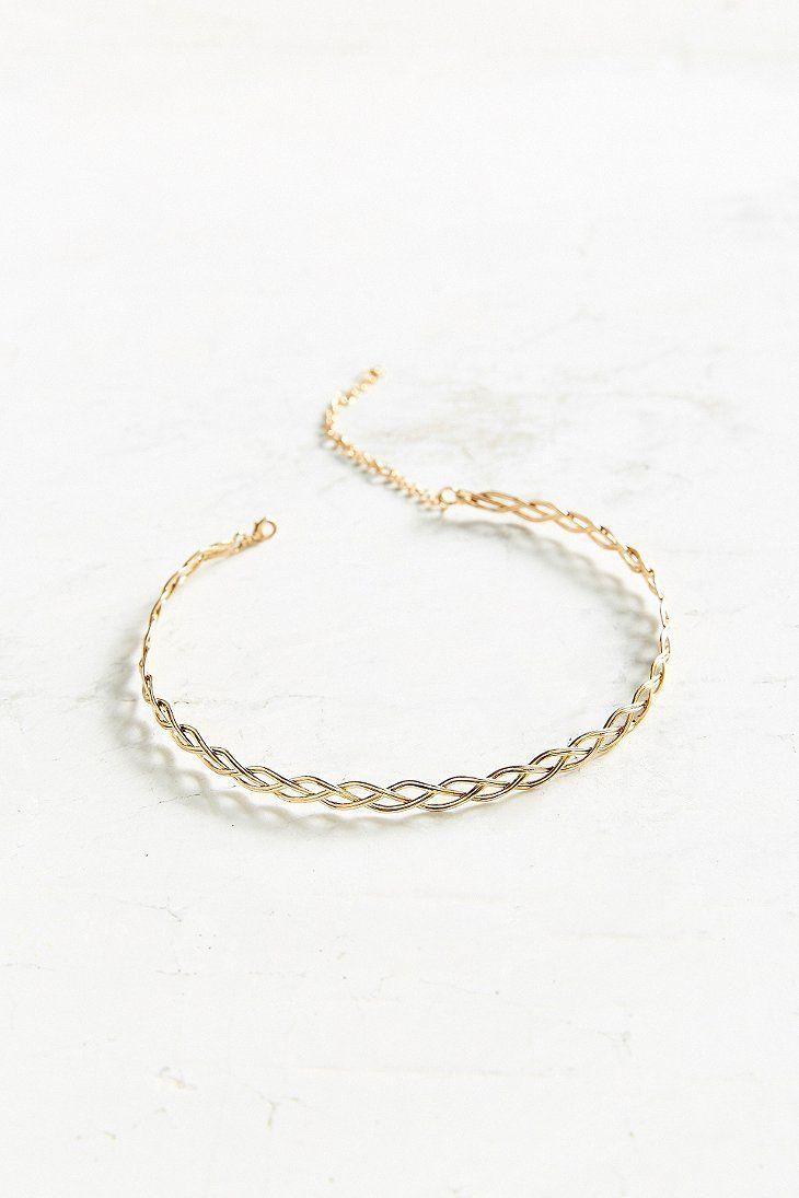 Wire Tattoo Choker Necklace