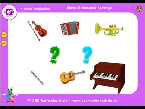 Zvuky klasických hudobných nástrojov - YouTube