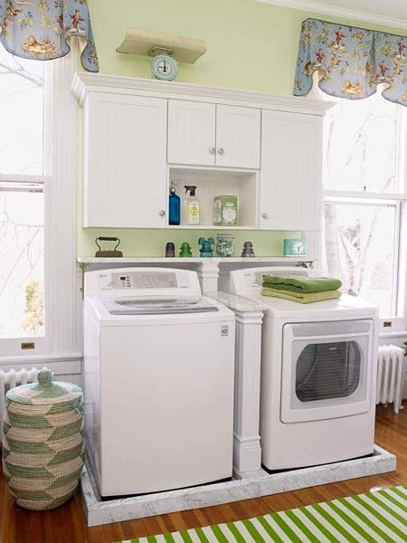 Pretty And Practical Laundry Room Redo Washers Alcove