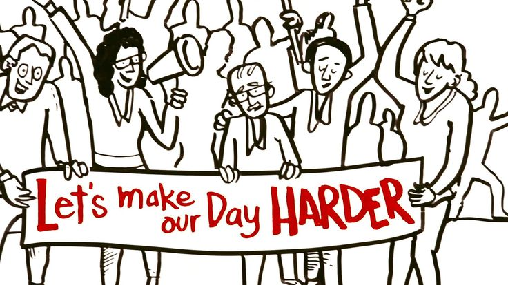 Let's Make our Day Harder- really great video on the need we all have to make greater efforts to be active.