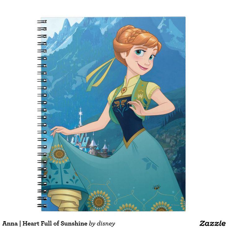 Anna | Heart Full of Sunshine. Regalos, Gifts. #notebook #cuaderno