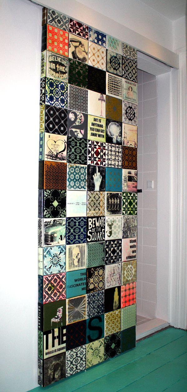 Azulejos Baño Sueltos:Sliding Door Tiled