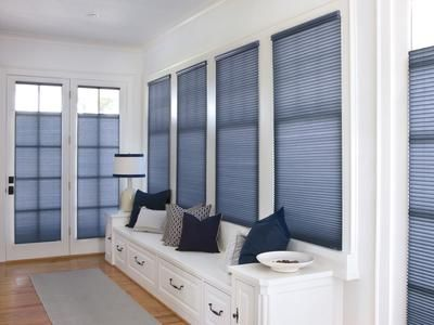 Cellular Blinds  There has been a shift away from horizontal blinds, whether vinyl or aluminum.  Cellular blinds have excellent insulating qualities and provide maximum visibility when fully opened.  Their major drawback is that they are difficult to clean and require cleaning more often than other window treatments.