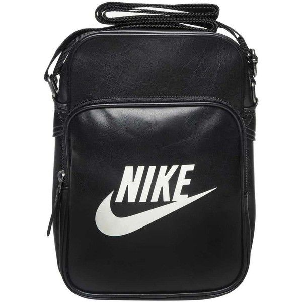 Nike Heritage Small Items Bag ($26) ❤ liked on Polyvore featuring bags, handbags, shoulder bags, accessories, fillers, black fillers, nike handbags, nike purse, strap purse and nike shoulder bag