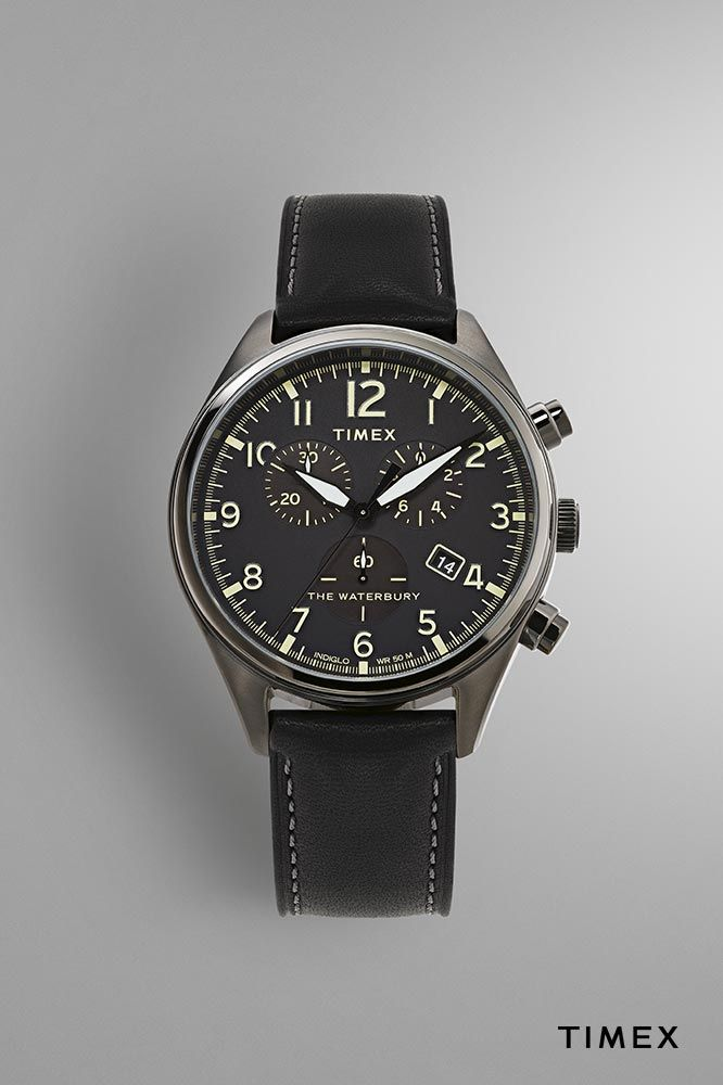 93d035a1d Waterbury Traditional Chronograph 42mm Leather Strap Watch ...