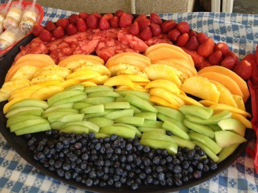 25+ best Rainbow fruit platters ideas on Pinterest   Rainbow fruit ...