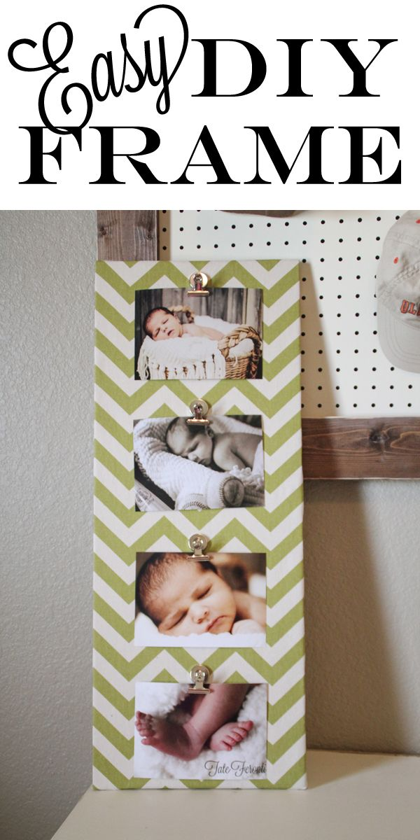 DIY- Super easy Picture Frame!!!  This would be a great baby gift for pretty decor in a nursery or a family picture wall or even holiday gift idea too!