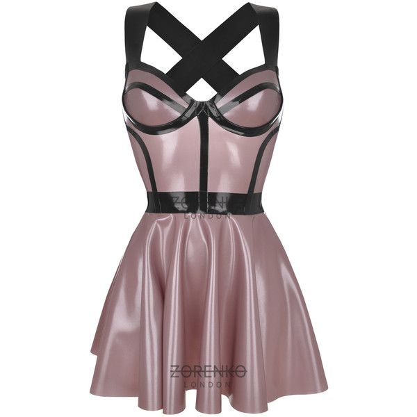Ritz Latex Skater Cage Dress ($248) ❤ liked on Polyvore featuring dresses, black, women's clothing, sexy black cocktail dresses, metallic skater dress, black mini dress, sexy dresses and metallic mini dress