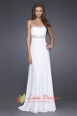 17 Best ideas about Long White Formal Dresses on Pinterest | White ...