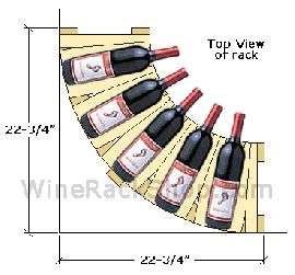 "36"" High Corner Wine Rack"