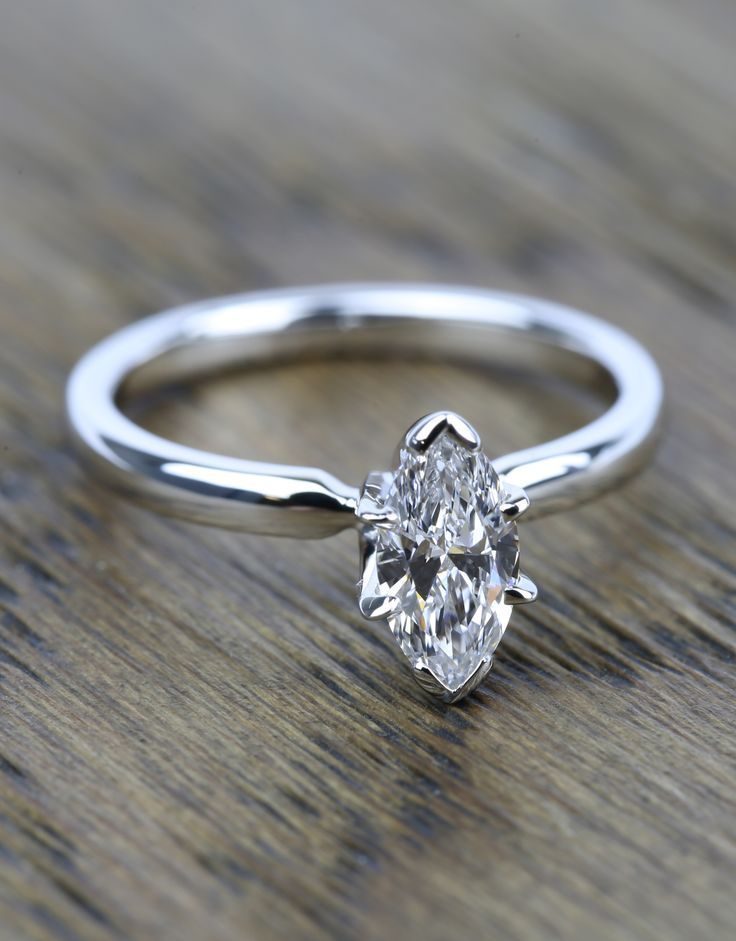 A beautiful recently purchased Marquise Solitaire Diamond Engagement Ring!