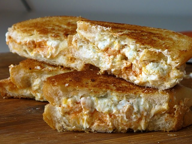 Buffalo Chicken Grilled Cheese. The husband would love this!