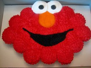 Elmo Cupcake Birthday Cake I made this cupcake cake for a two year old's birthday party. I used 20 cupcakes and all buttercream...