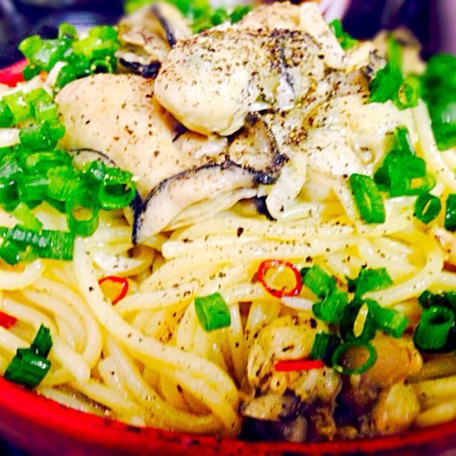 美味しかったぁ〜(≧∇≦) - 150件のもぐもぐ - 牡蠣のパスタ(クックパッドレシピID:1379355参照) by qpchan