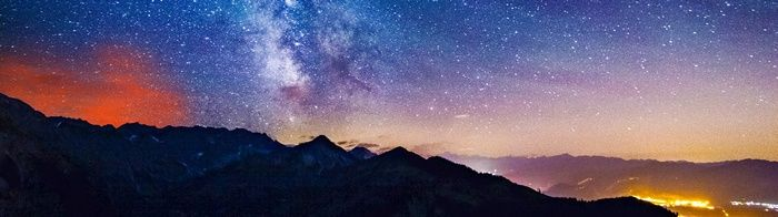 Mountains Nature Multiple Display Landscape Wallpaper Milky Way From Earth Wallpaper Dual Monitor Wallpaper