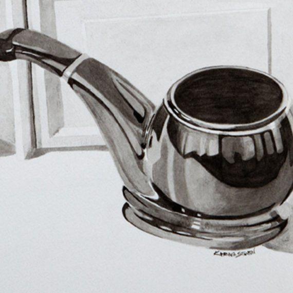 Three in Hue 30X20 original india ink drawing by Karina Stanton #art  $250.00
