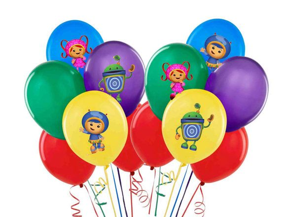 Balloon or Tablecloth Stickers Team Umizoomi Bubble by partywow