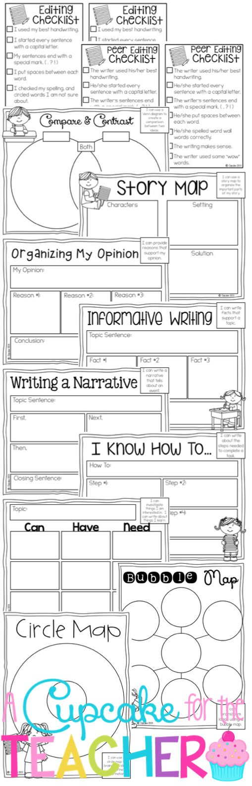 Writing Process {Posters & Graphic Organizers}!