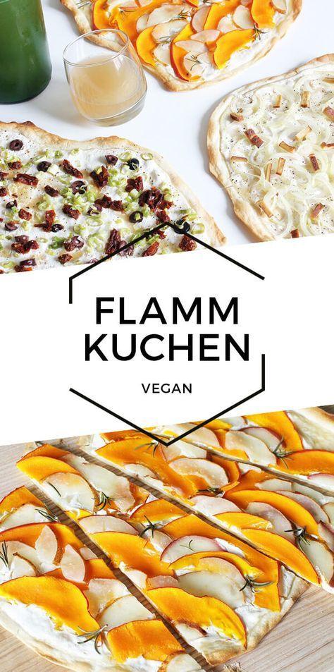 Vegan tarte flambée – 3 quick variations