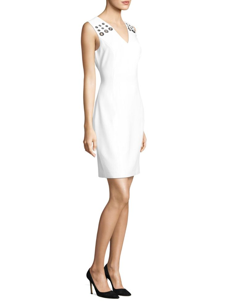 Elie Tahari Monica V-neck Dress