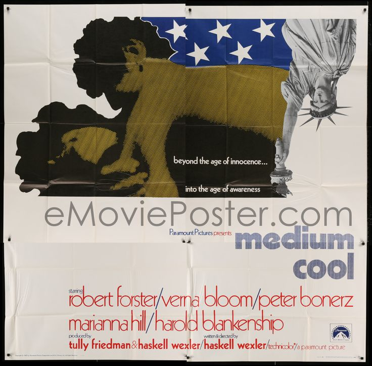eMoviePoster.com Image For: 7t077 MEDIUM COOL int'l 6sh 1969 Haskell Wexler's X-rated 1960s counter-culture classic!