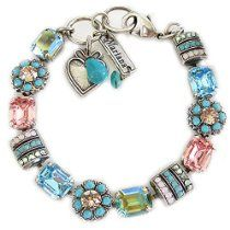 """Mariana Bracelet - Silver Plated Baguette Rectangular Flower Swarovski Crystal 7.5"""" Bracelet, """"Summer Fun"""" Pink Turquoise VM 4099 3711 // Description About Mariana Spirit of Design Jewelry: The artist and jewelry designer Mariana has been creating unique and original pieces of jewelry since 1997. Mariana's jewelry is famous all over the world. Her naive colorfulness and her flawless interfusion b// read more >>> http://Head970.iigogogo.tk/detail3.php?a=B00MX6FFNQ"""
