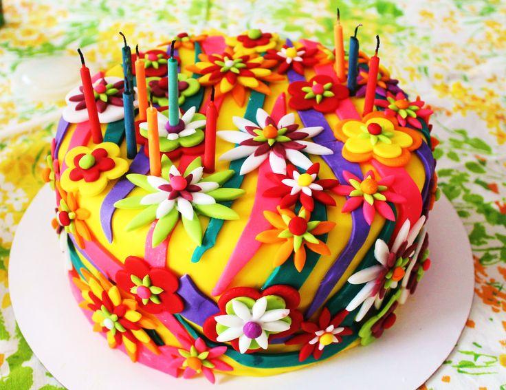 Funky Flower Garden Cake