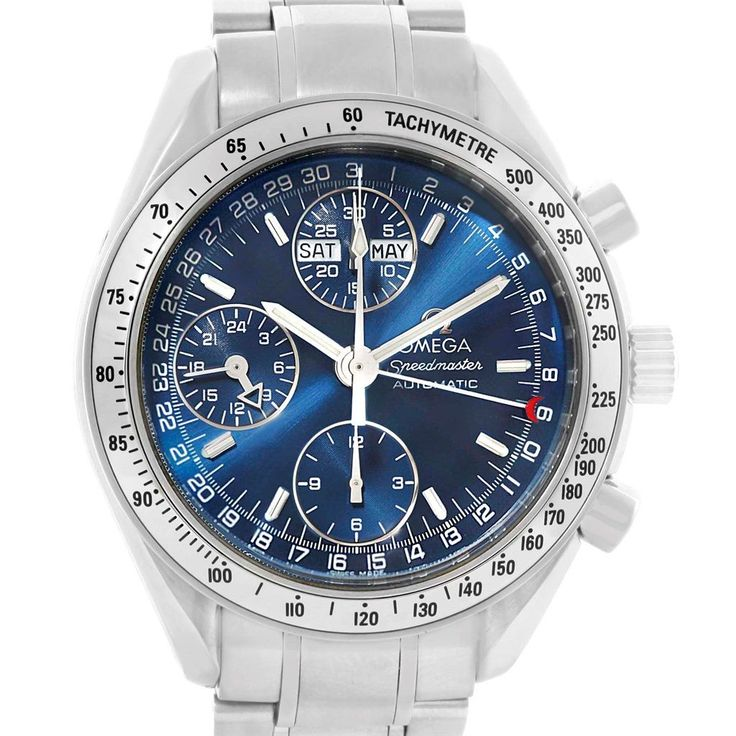 15812 Omega Speedmaster Day-Date Blue Dial Mens Watch Box Papers SwissWatchExpo - http://soheri.guugles.com/2018/02/08/15812-omega-speedmaster-day-date-blue-dial-mens-watch-box-papers-swisswatchexpo/