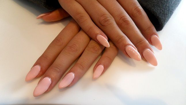 Pretty pink stiletto nails
