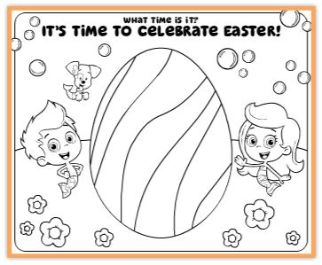 bubble guppies easter coloring page - Nick Jr Coloring Pages 2