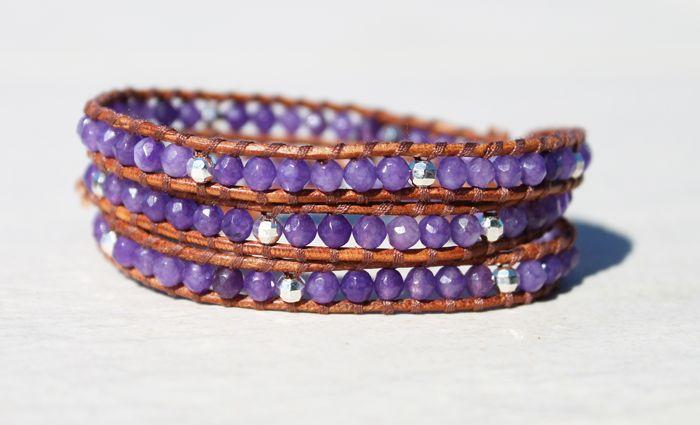 Da Costa Amethyst Triple Wrap Bracelet