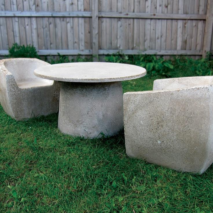 Concrete furniture cement pinterest ideas para for Mobiliario exterior terraza