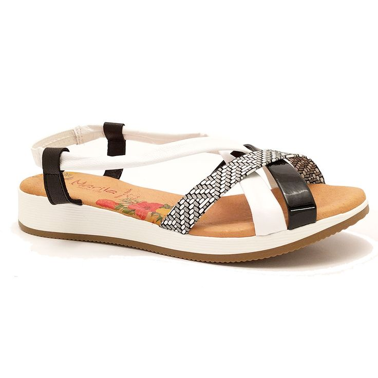 Zwarte Marila Sandalen  Zwarte Marila Sandalen. Leuke en comfortabele sandaal van Marila. Uitgevoerd in soepel leer in zwart wit. Het bandje op de hiel is van elastiek  EUR 54.99  Meer informatie