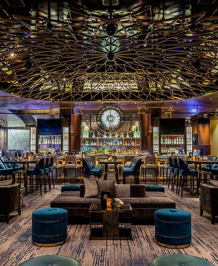 Bar Ceiling Aria Resort Casino Las Vegas Designed By Studio Munge Architecture Restaurant Interior DesignRestaurant