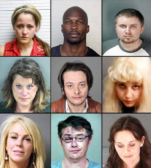 Celebrity Mugshots of 2013