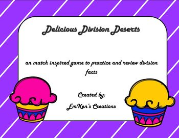 A match-inspired game to practice and review division facts! Students take turns picking up cupcake cards, finding the quotient to the division problem on the cupcake, and then placing the cupcake on the correct cupcake on the game board. I used this at the end of the year
