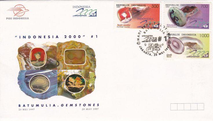 FDC Indonesia 2000 #1 Seri Batu Mulia (Gemstones) terbitan 1997