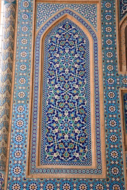 Inside Jameh mosque of Yazd, Yazd, Iran
