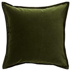Target Bukhara Velvet Cushion - Dark Olive