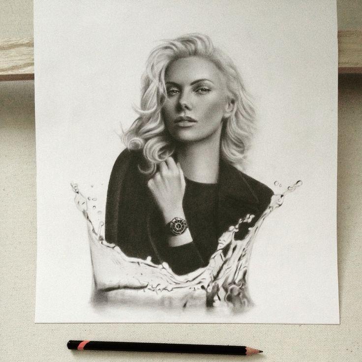"Pencils on paper. ""Frozen"" #art #drawing #sketch"