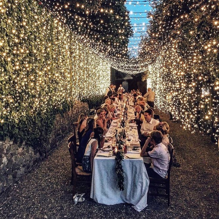 Garden evening celebration via Italian Eye Design - stunning!
