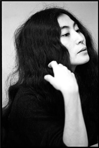 Portrait of musician and artist Yoko Ono, United States, 1968, photograph by Ethan Russell.